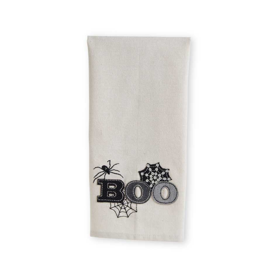 K&K Interiors Cream BOO Tea Towel