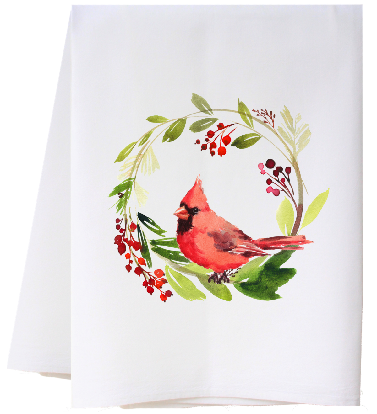 Southern Sisters Enterprises Joyful Cardinal Flour Sack Towel