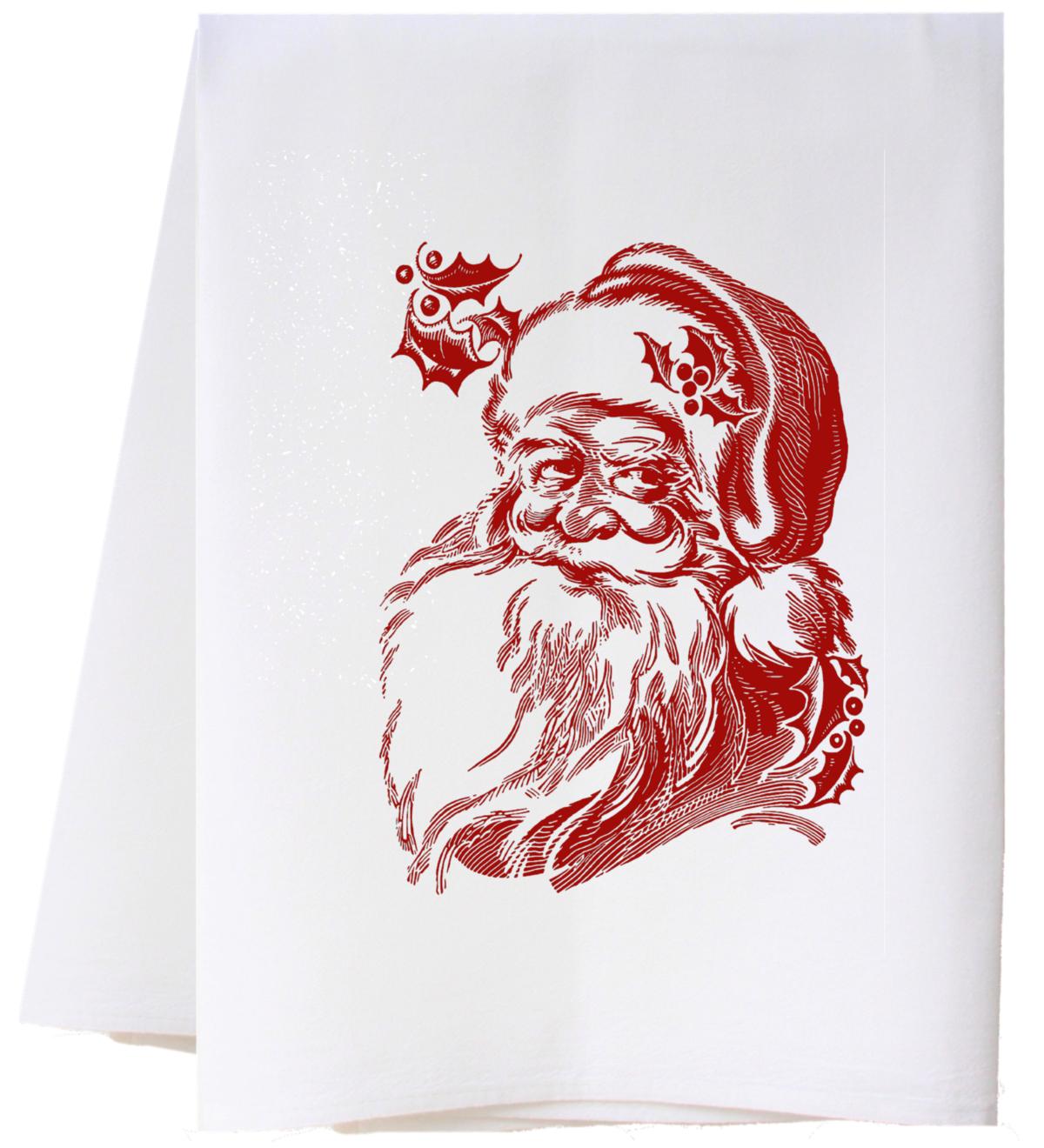 Southern Sisters Enterprises Vintage Santa Claus Flour Sack Towel