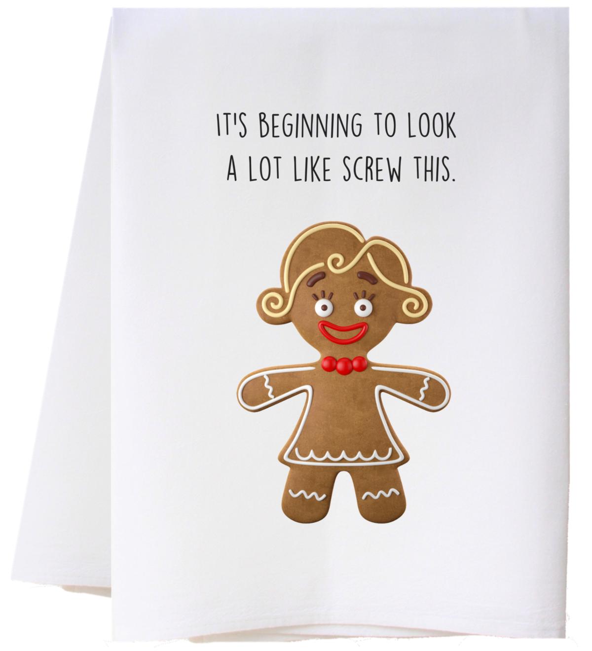 Southern Sisters Enterprises Screw This Flour Sack Towel