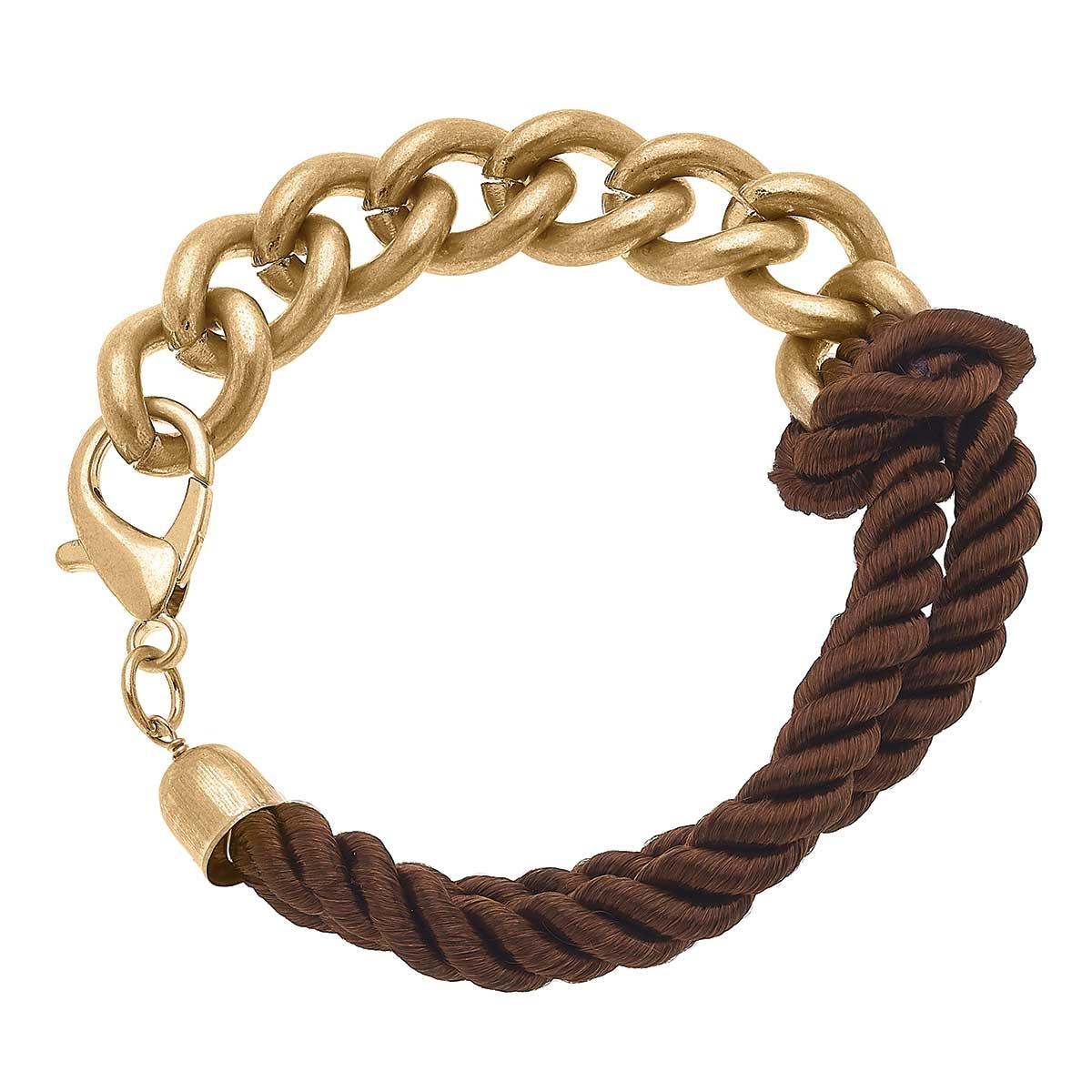 Canvas Eliza Twisted Cord & Chunky Chain Bracelet