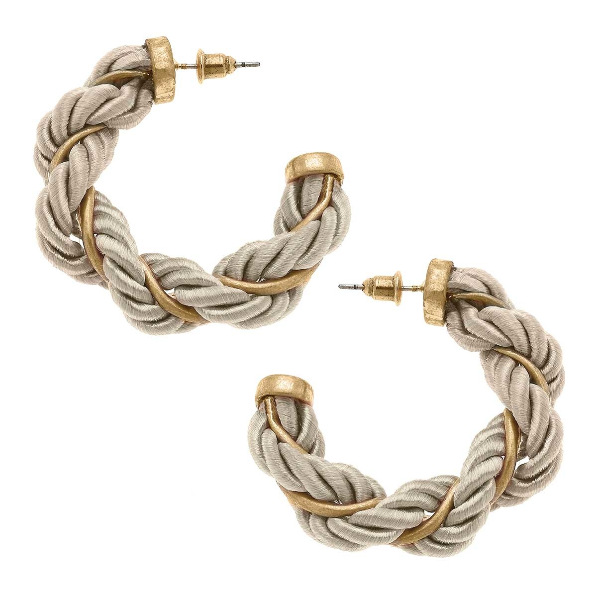 Canvas Tenley Twisted Cord Hoop Earrings
