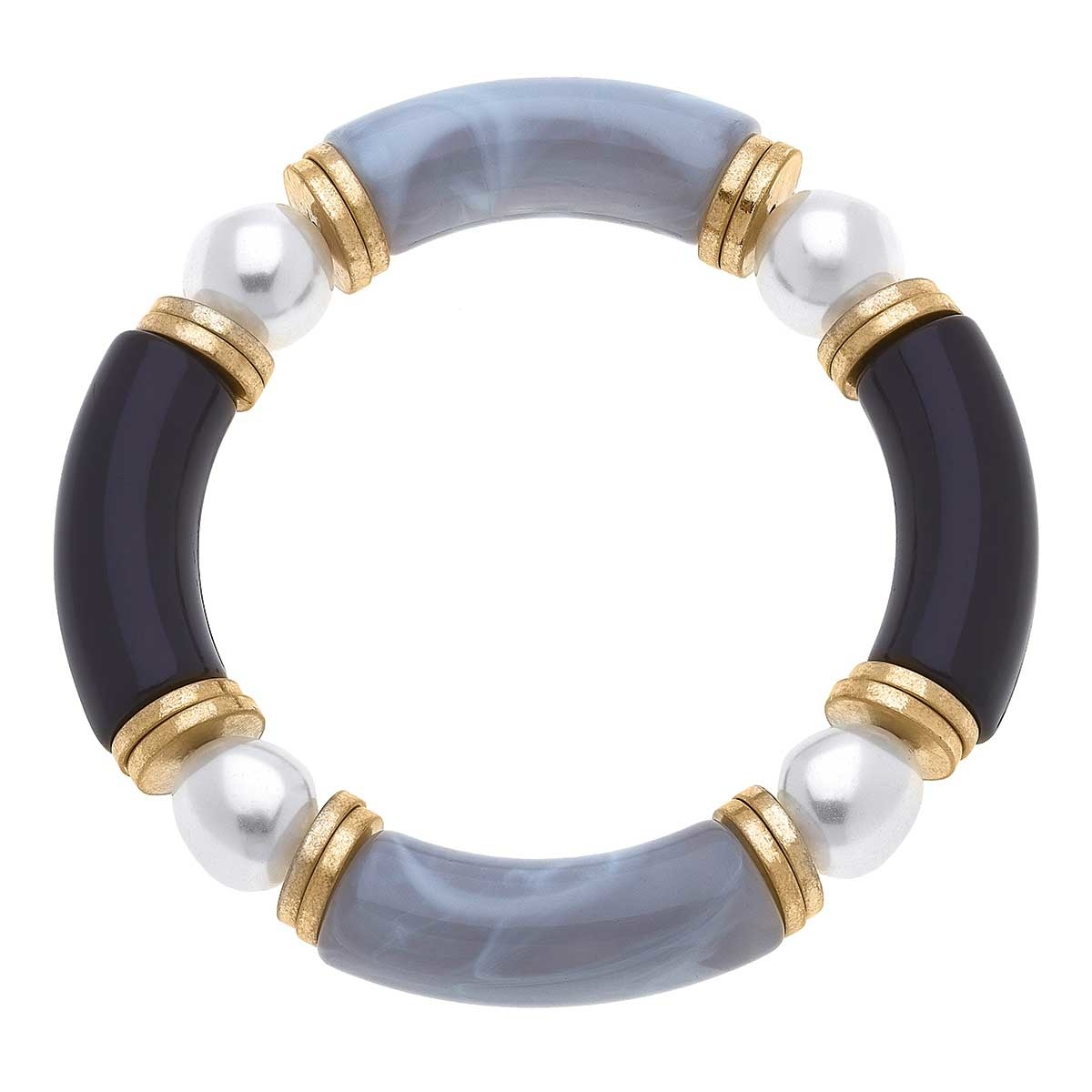 Canvas Greer Resin & Glass Pearl Beaded Bracelet