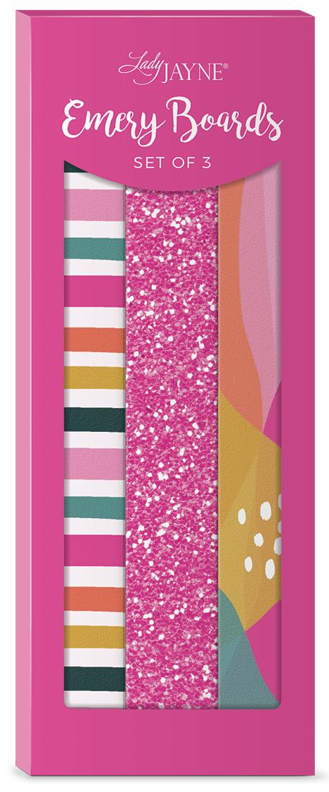 Lady Jayne Sketched Stripes Nail File-Set of 3