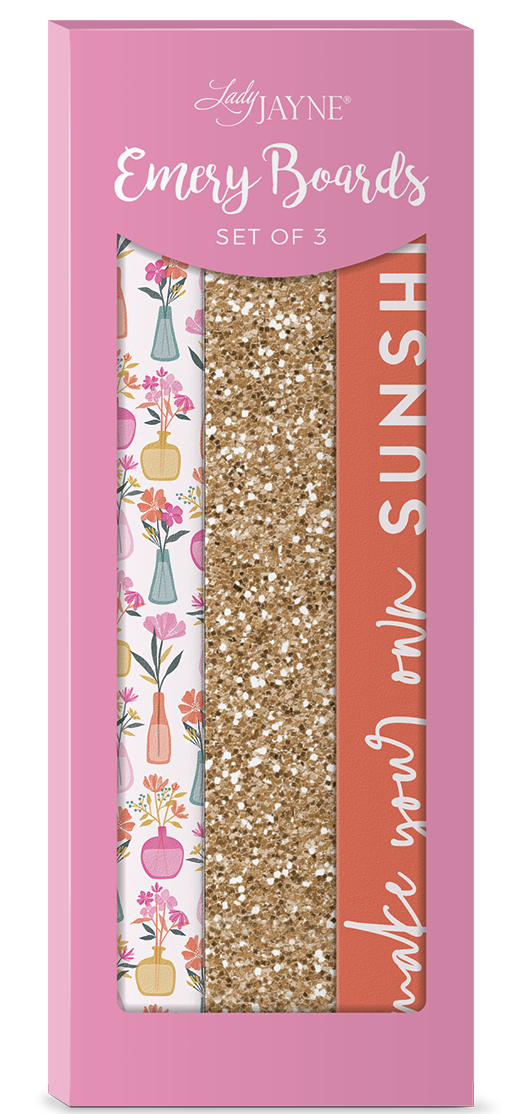 Lady Jayne Flower Vases Nail FIle-Set of 3
