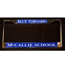 BLUE TORNADO LICENSE TAG FRAME