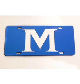 ACRYLIC M LICENSE PLATE- Blue