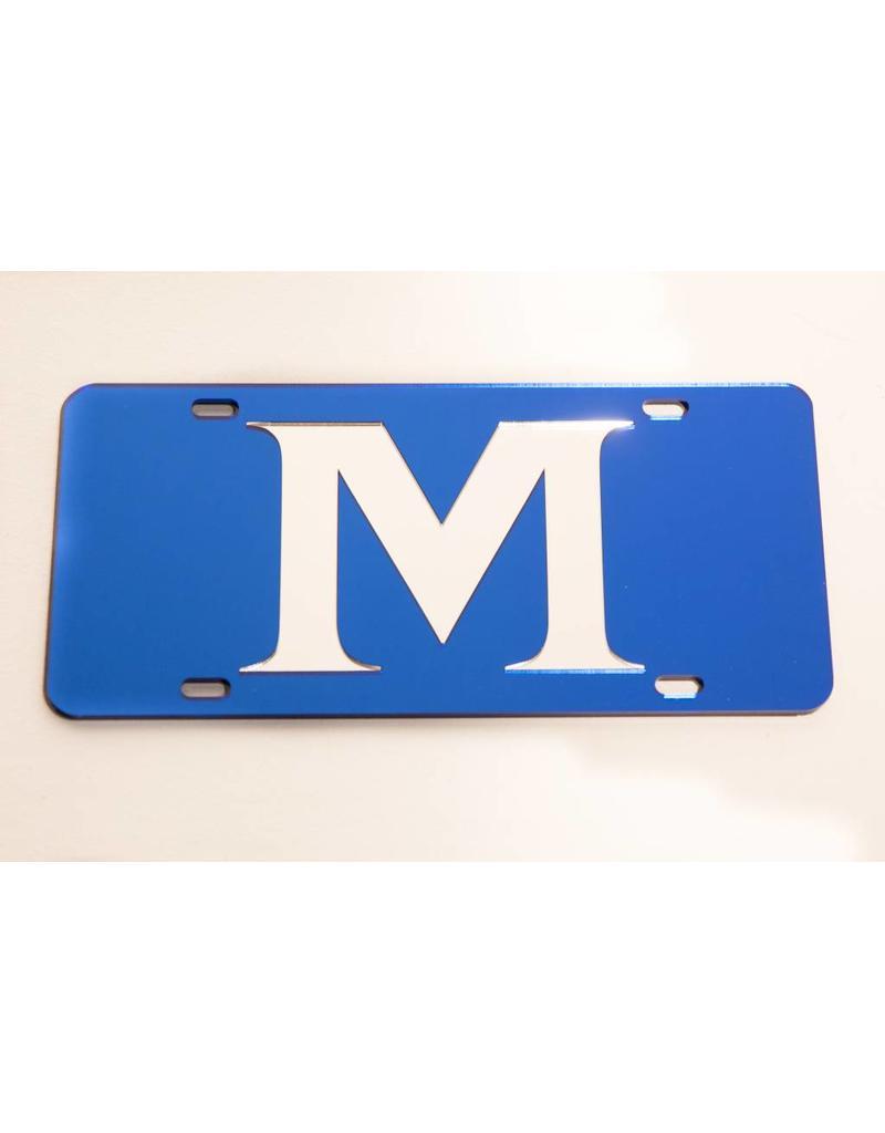 ACRYLIC M LICENSE PLATE- Blue
