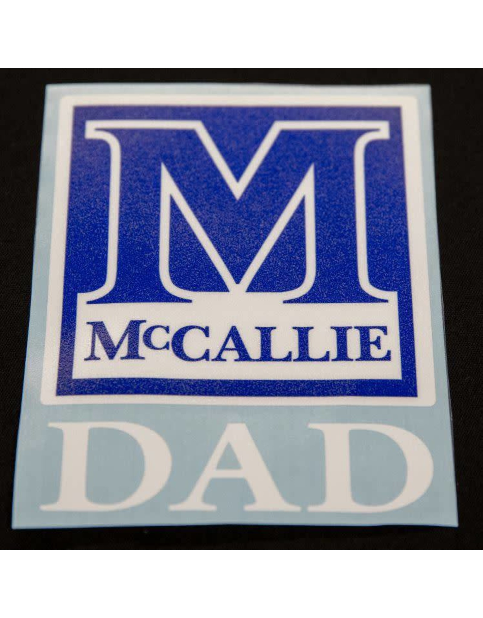 MCCALLIE DAD DECAL