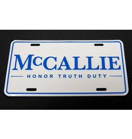 MCCALLIE ALUMINUM LICENSE PLATE