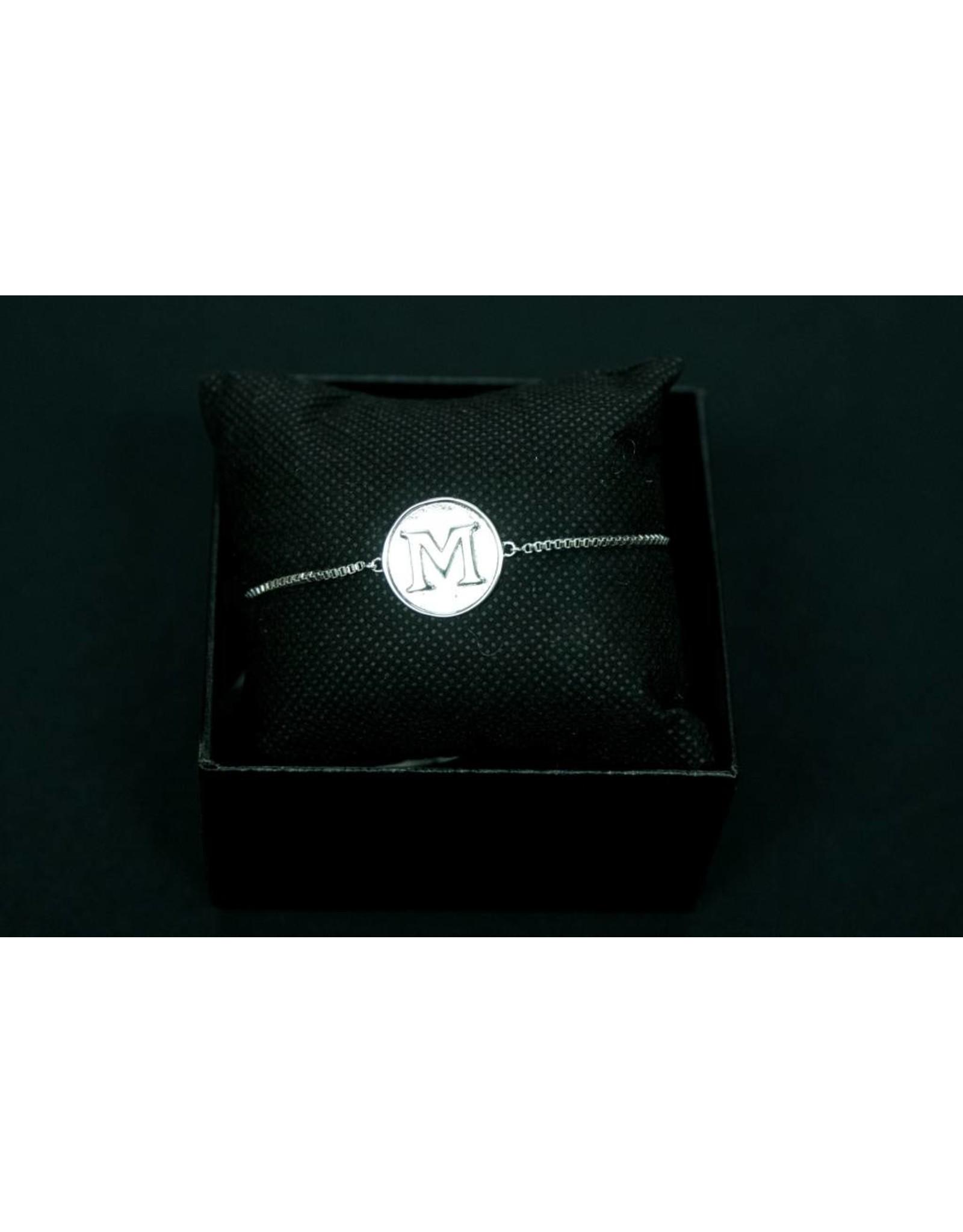 Silver M Bracelet