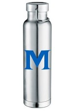 22OZ M LOGO SILVER WATER BOTTLE
