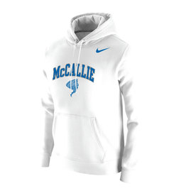 NIKE WHITE CLUB FLEECE HOODIE