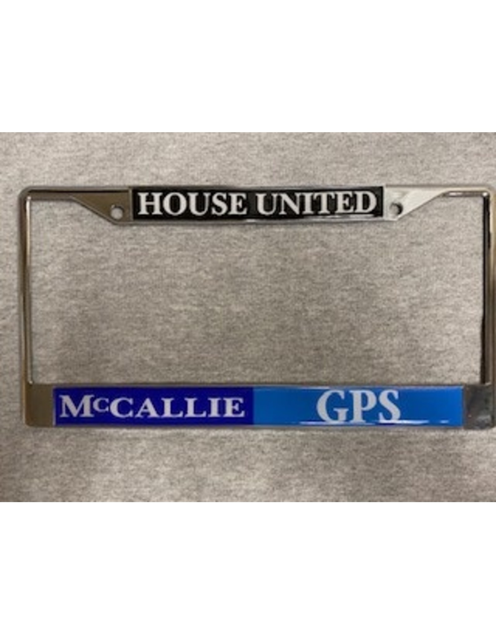 HOUSE UNITED LICENSE TAG FRAME- SILVER