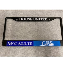 HOUSE UNITED LICENSE TAG FRAME- BLACK