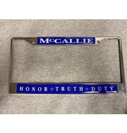 HTD LICENSE TAG FRAME- SILVER