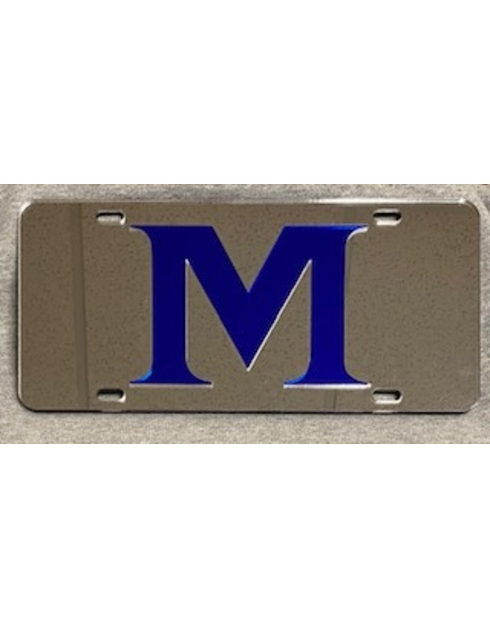 ACRYLIC M LICENSE PLATE- Silver
