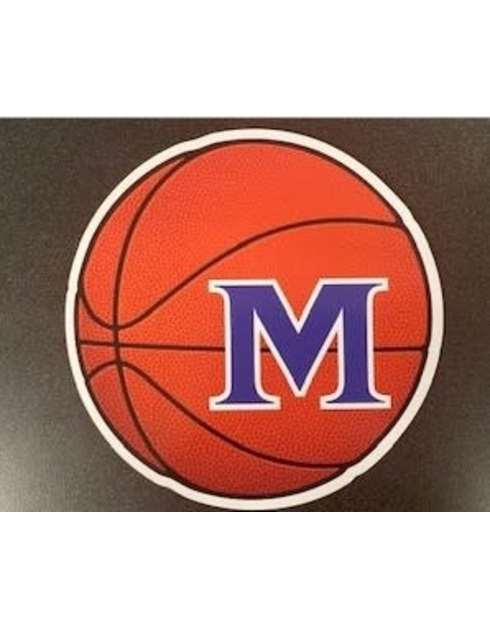 BASKETBALL CAR MAGNET