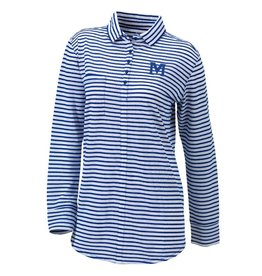 COLUMBIA WOMENS COLUMBIA STRIPED LS SHIRT