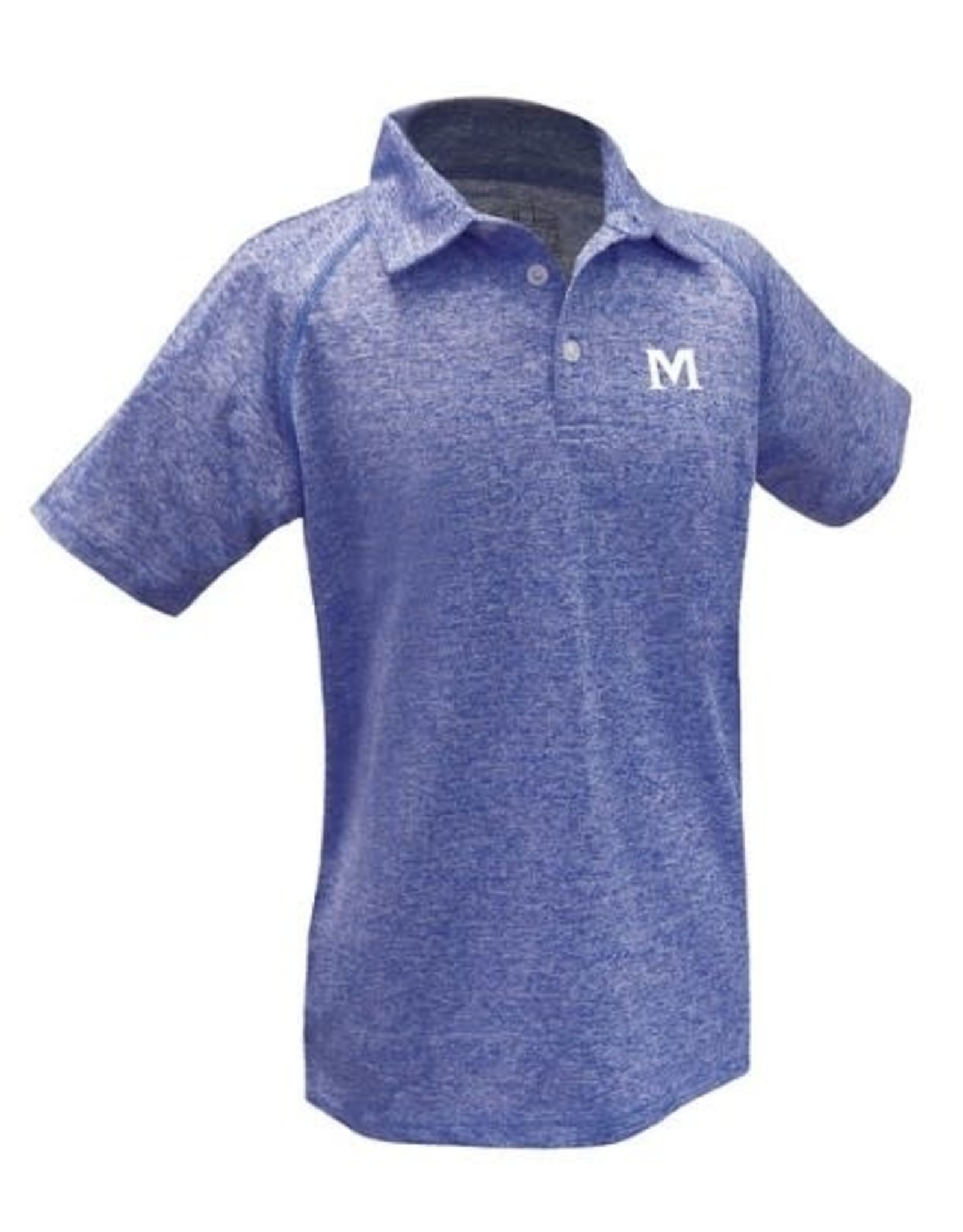 YOUTH BLUE MARLED POLO