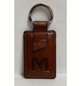 LEATHER STYLE KEY TAG BROWN