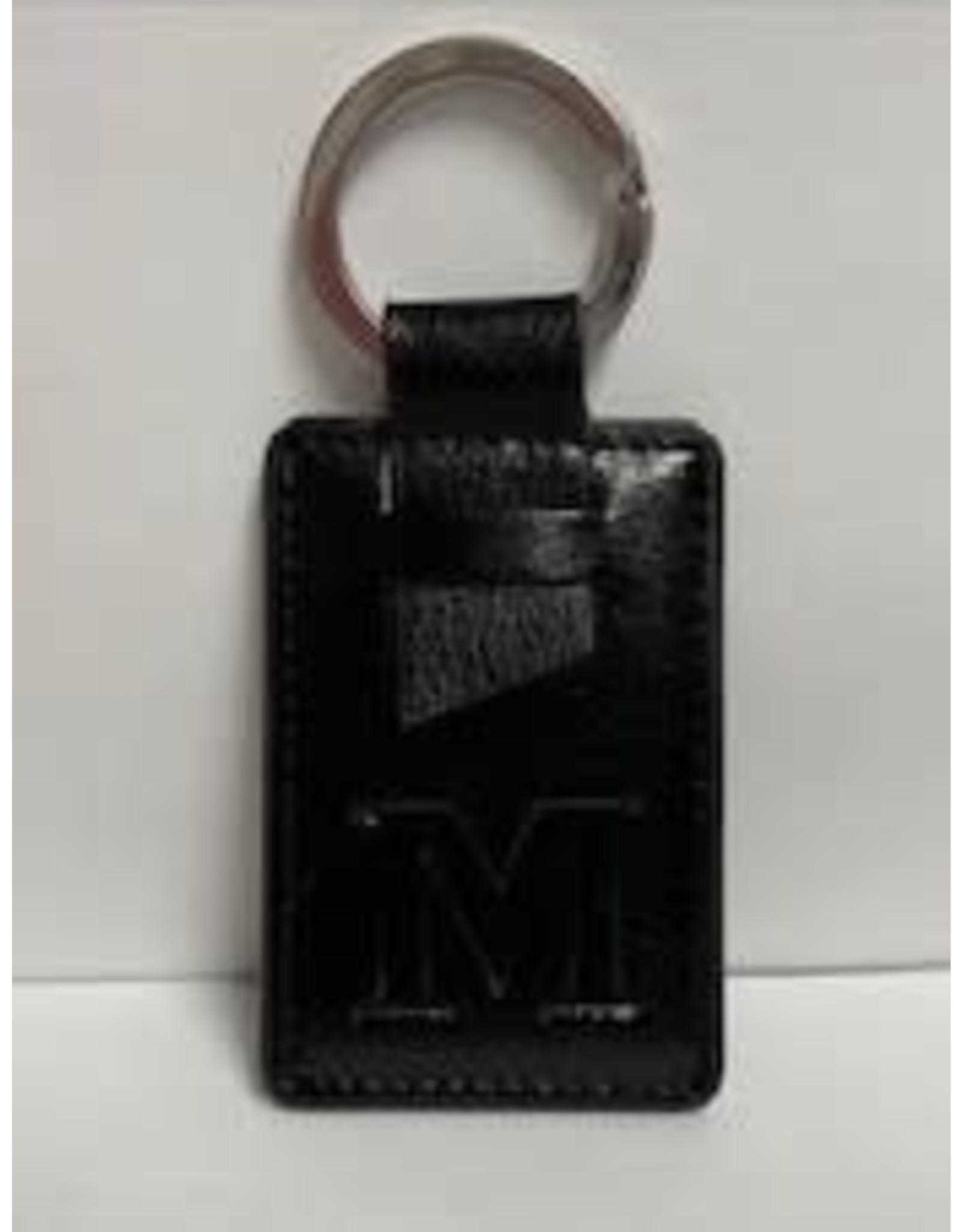 LEATHER STYLE KEY TAG BLACK