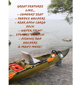 Santa Cruz Kayaks Raptor G1 Sit on Top Kayak with Comfort Seat and Seat Base Adapter installed