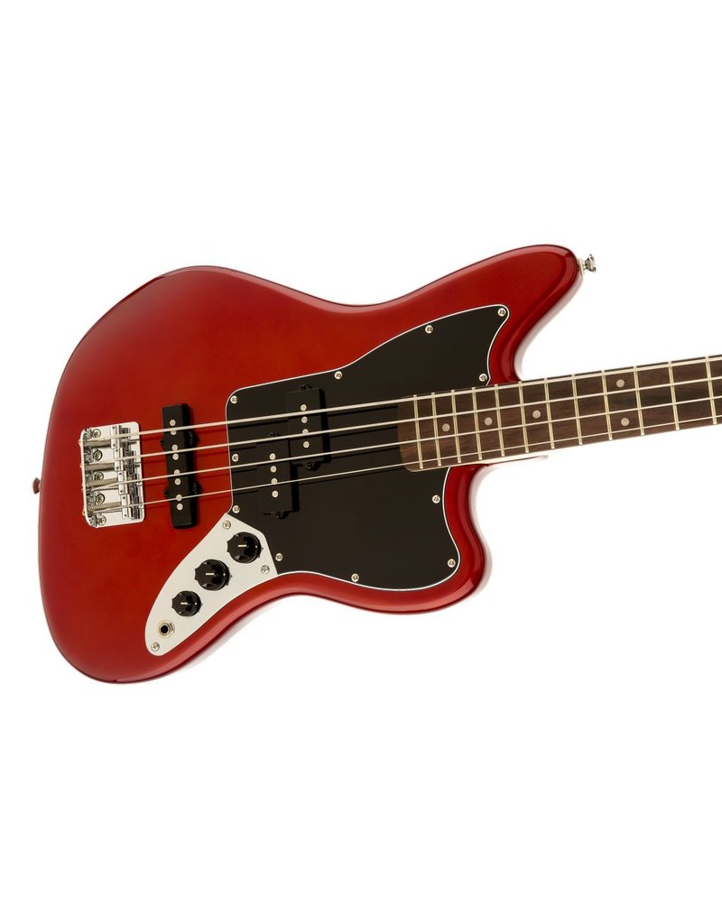 Squier VM Short Scale Jaguar Bass, Candy Apple Red