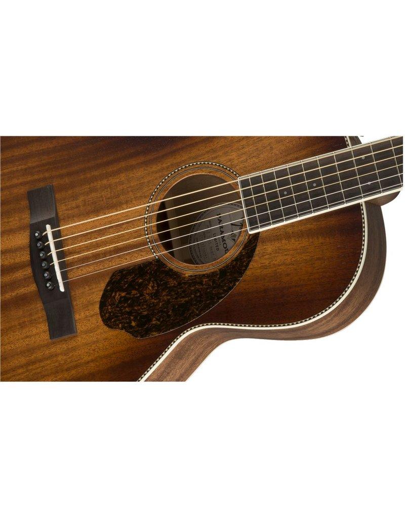 Fender PM-2E Parlor All-Mahogany, Antique Cognac Burst
