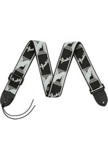 Fender Monogrammed Strap, Black/Light Grey/Dark Grey