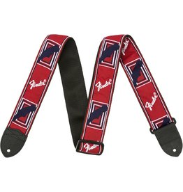 "Fender 2"" Monogrammed Strap, Red/White/Blue"