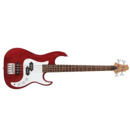 Greg Bennett Corsair Short Scale Bass, Red