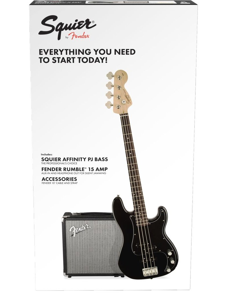 Fender Affinity Precision Bass Pj Pack, Black