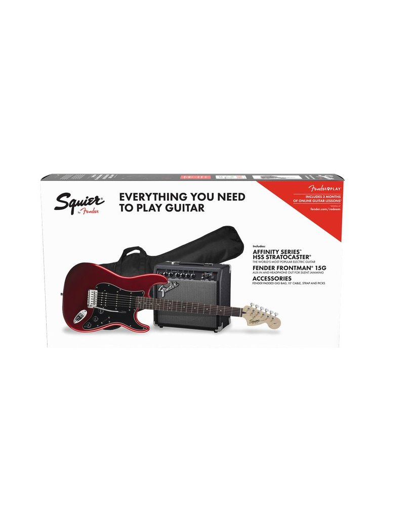 Squier Affinity Strat Pack, Candy Apple Red