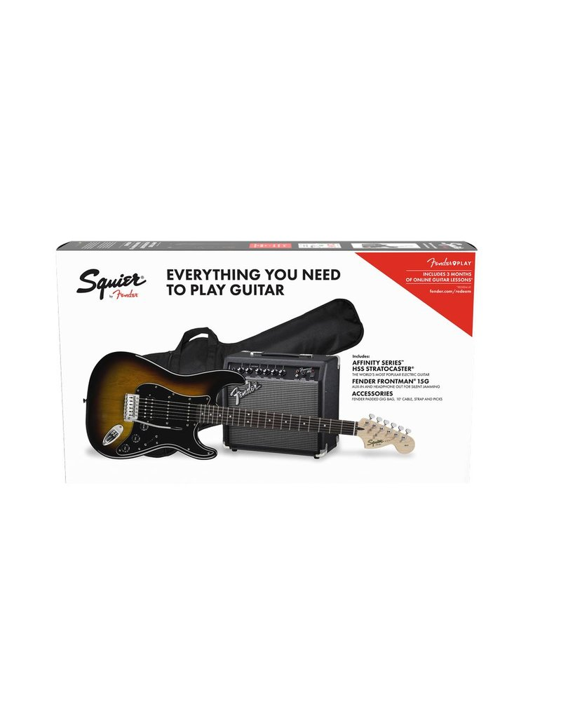 Squier Affinity Strat Pack Brown Sunburst