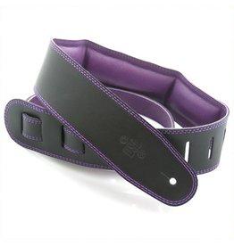 DSL Padded Leather Strap | Black/Purple