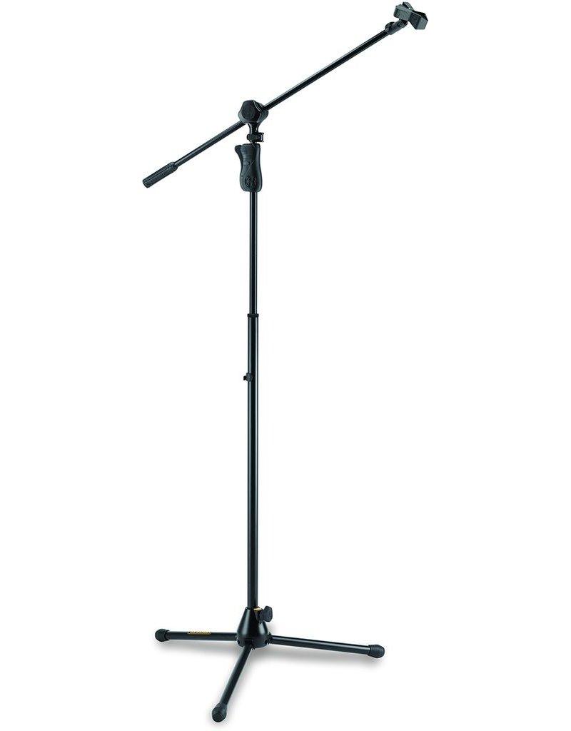 Hercules Hercules Tripod Microphone Stand + EZ Grip w/ 2 In 1 Boom & Mic Clip,