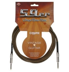 Klotz Vintage Braided Pro Cable Straight, 4.5m