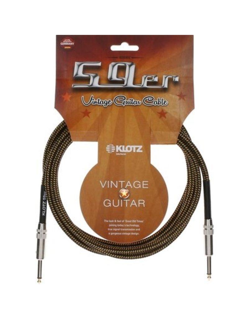 Klotz Klotz Vintage Braided Pro Cable Straight, 4.5m