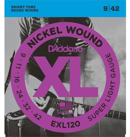 Daddario EXL120 Super Light 9-42