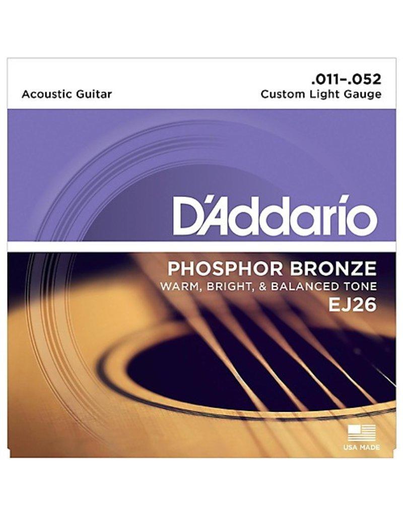 Daddario Daddario EJ26 Custom Light 11-52