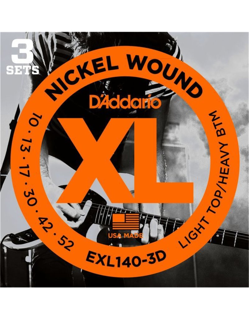 Daddario Daddario EXL140 Light/Heavy 10-52 (3 Pack)