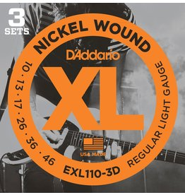 Daddario EXL110 Reg Light 10-46 (3 Pack)