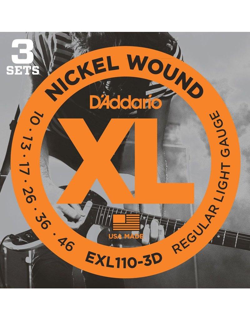 Daddario Daddario EXL110 Reg Light 10-46 (3 Pack)