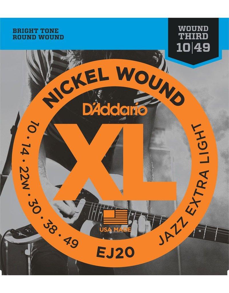 Daddario Daddario EJ20 Jazz Extra Light 10-49