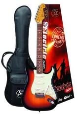 SX SX 3/4 Electric Guitar Pack, Sunburst