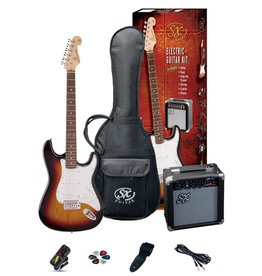 SX SX 3/4 Electric Guitar Pack, Sunburst