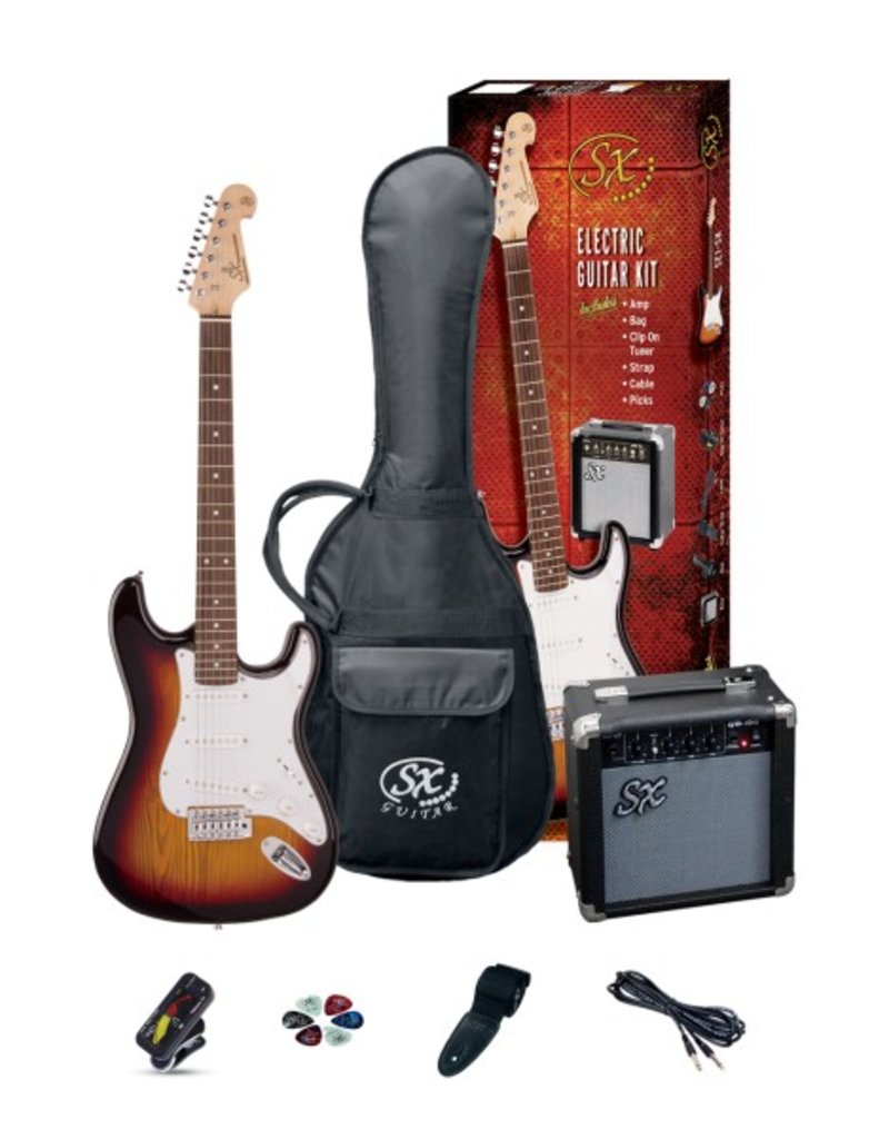 SX 3/4 Electric Guitar Pack, Sunburst