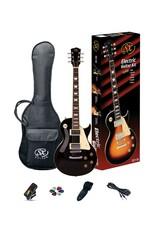 SX SX LP Style Electric Pack, Black