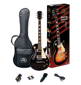 SX SX LP Style Electric Pack, Black